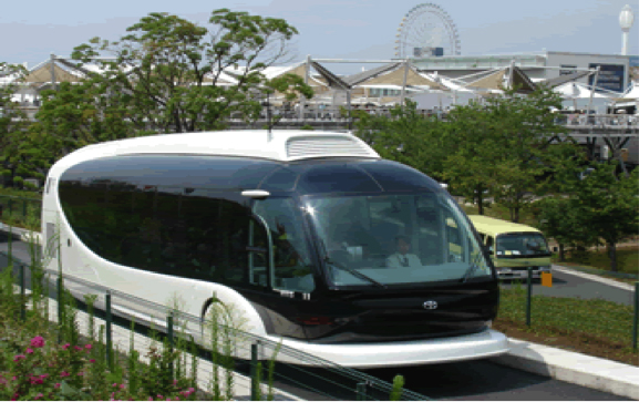 Toyota connected vehicle transit bus